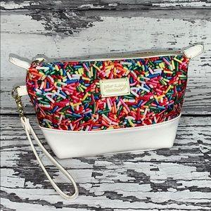 Betsy Johnson Candy Sprinkles Wristlet/Makeup Bag